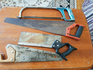 Saws, wood and iron