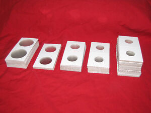 150 Cardboard Coin holders for Coin Album -- assorted sizes