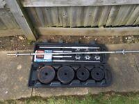 York 50kg Cast Iron Barbell & Dumbell Set