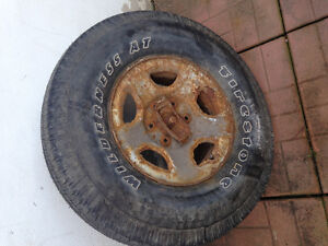 Spare tire never used