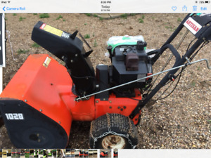 Snow Blower 10hp with electric start
