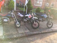 3x stomp wpb 110 125 110 not yz rm cr etc pitbike
