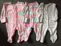 Baby girls up to 1 month, first size bundle of clothes