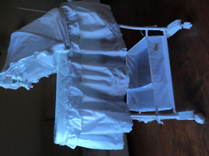 White lace bassinet for sale