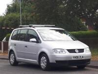 Volkswagen Touran 1.9TDI ( 103BHP ) ( 7st ) 2006MY S,3 OWNERS,FULLY SERVICED,LON