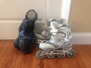 Rollerblades + protection gear