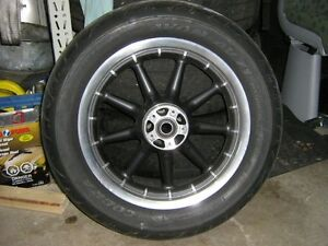 "Used front 16"" 9 spoke wheel with New MT90-b16 Avon Cobra"