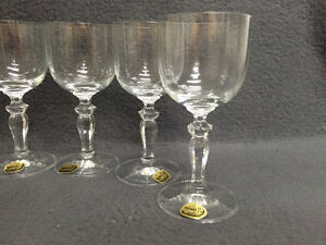 Collectible Antique Set of 6 Bohemia Crystal Sherry Glasses Neve London Ontario image 2
