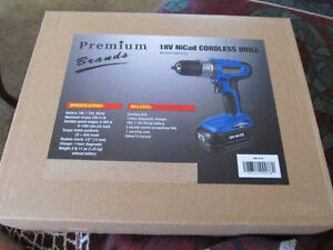18 volt nicad cordless drill  new in box