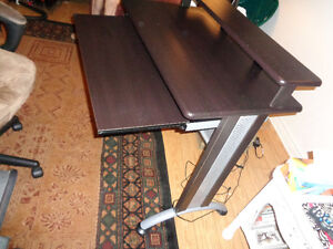 modern black and silver desk
