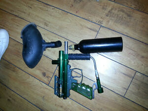 Paintball Marker for sale w CO2 Tank and hopper