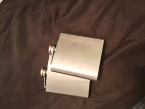 Brand New STAINLESS STEEL flasks! - $15 for the pair