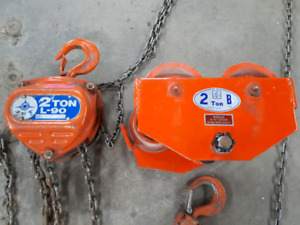 Chain hoist Jet 2 ton 20' lift and trolley
