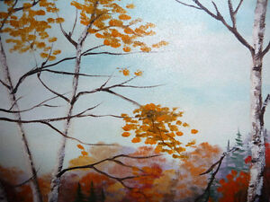 """Charming Roy Robson """"By The Birches"""" Original Oil Painting 1989 Stratford Kitchener Area image 7"""