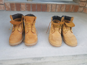 Like new mens/teen Timberlands size 7
