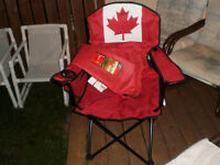 New Canada day chair and two stools