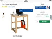 Two identical Office desks wood effect from Argos