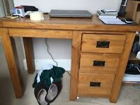 Dressing table solid pine top quality cost £300