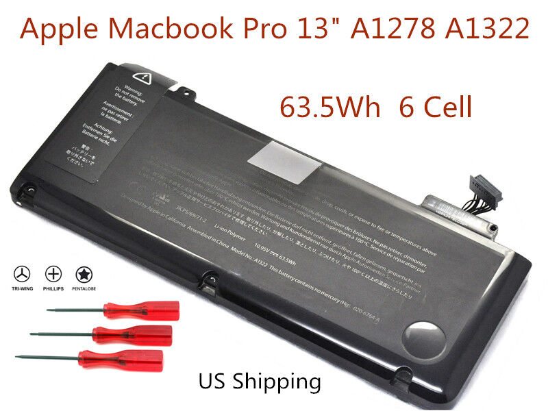 a1f00327c4d NEW Genuine A1322 Battery For Macbook Pro 13