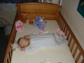 Mamas and Papas pine Cot bed