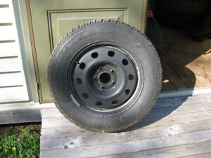 Studded Winter Tires on Rims (4)