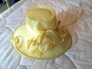 Yellow straw hat