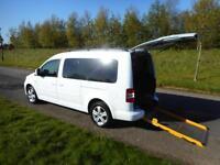 2011 Volkswagen Caddy 1.6 Tdi WHITE 7 SEATS Wheelchair Accessible Vehicle WAV