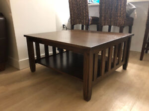 Wheaton's Mission Oak Coffee Table-Early American Stain
