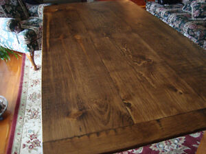 Rustic Pine Harvest Table
