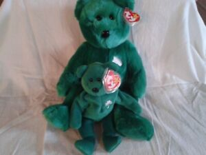 Ty 'Erin' Buddy and Beanie Baby- LUCKY!!!!