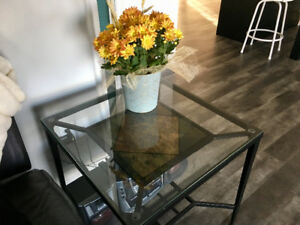 Dining room table with matching coffee and end tables