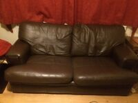 MUST SALE THIS WEEK G Plan brown real leather sofa and arm chair