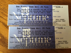 Neptune Theater open tickets. Any show, any seat for the 2019 se