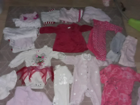 BUNDLE OF CLOTHES 3-6, 6-9MONTHS OVER 45 ITEMS