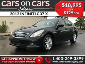 2012 INFINITI G37 X w/Leather, Sunroof $129 B/W INSTANT APPROVAL