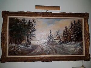 Winter Landscape Oil painting Artisit - E. Pater