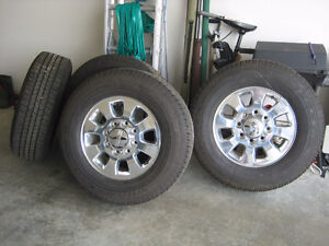 Polished alloy wheels for GM/Chev 2500 or 3500 truck