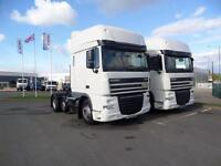 2 X DAF TRUCKS FTP XF105.460 6X2 SUPER SPACECAB TRACTOR UNITS