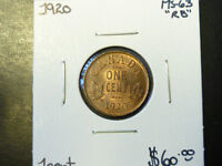 Monnaie 1¢ 1920 Ms-63 Red/Brown Laval / North Shore Greater Montréal Preview