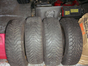 185 65 14 Good Year Nordic Winter Tires on Rims