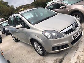 Vauxhall zafira 1.6 52,000 miles 12 months mot 6 months warranty