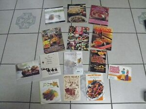 Various Recipe Books- Fundraiser- NEGC