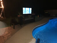 Outdoor movies in your own yard