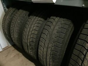 P245/65R17 Michelin winter tire package with TPMS, aluminum rims