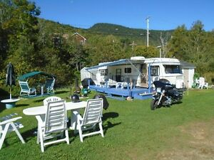 roulotte camping domaine riviere montmonrency