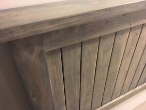 Weathered Grey, Rustic Queen Headboard