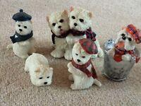 Miniature scotty dog ornaments
