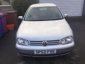 2002 VOLKSWAGEN GOLF 5 door