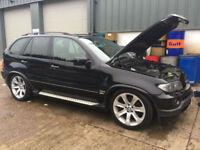 BMW X5 4.8is Sport auto 2004 / 54 Reg /Sapphire Black /Pan Roof / £6k In Options