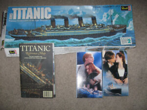 Revell Titanic Model + Titanic Map + Titanic 2 vhs movie-$10 lot